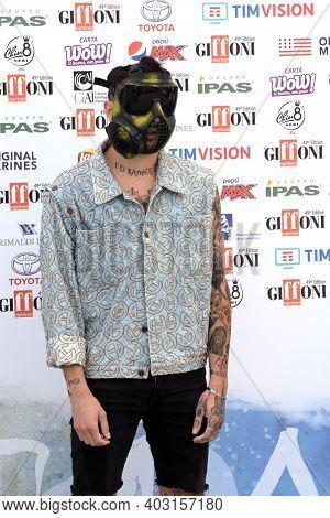 Giffoni Valle Piana, Sa, Italy - July 25, 2019 : Junior Cally At Giffoni Film Festival 2019 - On Jul