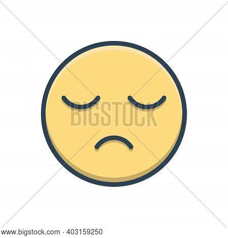 Color Illustration Icon For Sleepy Sluggish Slack Lingering Lethargic