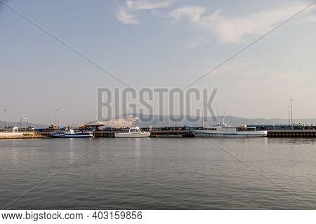 Yachts In The Club. Coastal Yacht Club