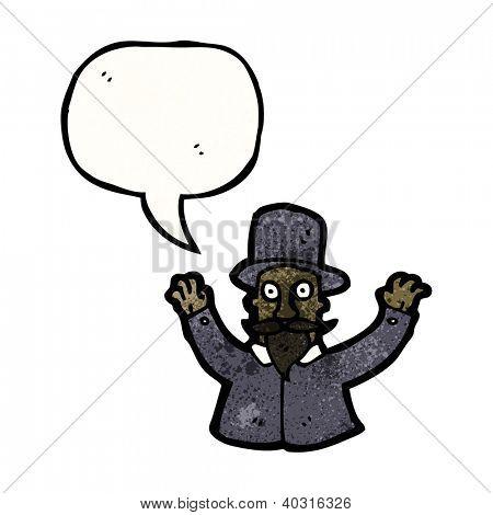 cartoon victorian hypnotist