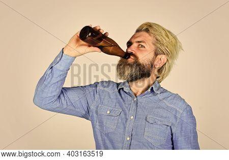 Having Alcohol Addiction And Bad Habits. Having Fun. Alcoholism Problem. Drunk Man. Alcoholic Guy. R