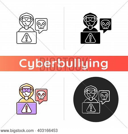 Cyberstalking Icon. Stalking Online From Anonymous Person. Online Hate. Internet Hate Comments. Cybe