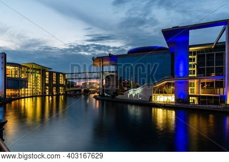 Berlin, Germany - July 29, 2019: Marie-elisabeth-luders-haus Building In Government District Of Berl