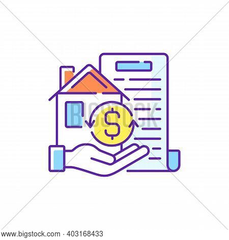 Collateral Rgb Color Icon. Security For Loan Repayment. Real Estate And Assets Form. Valuable Proper