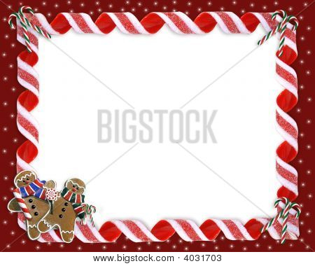 Christmas Border Candy And Cookies