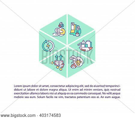 Climate Justice Concept Icon With Text. Ppt Page Vector Template. Global Warming. Climate Change Res