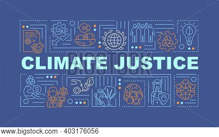 Environmental Responsibility Concepts Banner. Infographics With Linear Icons On Blue Background. Cli