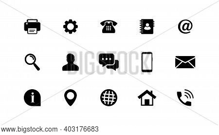 Business Card Icon Set. Contact Us. Name, Mobile, Location, Place, Phone, Email, Fax, Web, Contact U