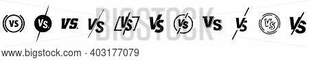 Set Of Versus Logo Letters. Versus Or Vs Letters Logo Symbol Design Template. Vs Letters For Sports,