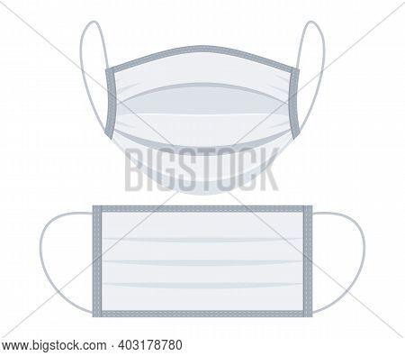 Corona Virus Protection Mask. Medical Protective Masks. Surgical Face Mask, Vector Illustration. Saf