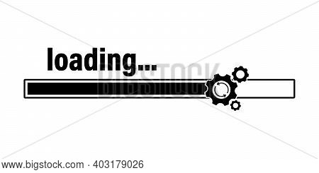 Loading Process. Update System Flat Icon. Concept Of Upgrade Application Progress Icon For Graphic A