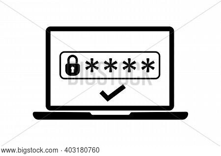 Two Steps Authentication Icon. Verification Or Sms With Code Message Confirmation For Account Login.