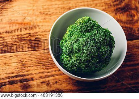 Head Of Broccoli In Bowl
