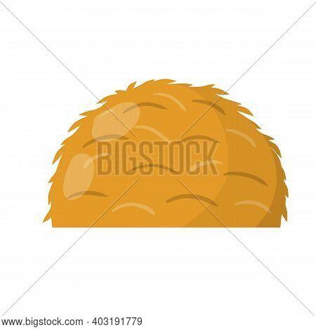 Sheaf Of Wheat Ears. Rural Crop. Autumn Rustic Element. Rustic Cartoon Flat Illustration. Bunch Of H