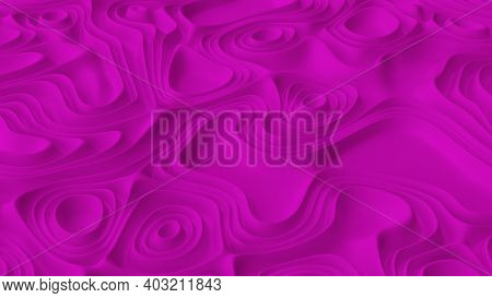 Abstract Minimalistic Background With Pink Noise Wave Field. Detailed Displaced Surface. Modern Back