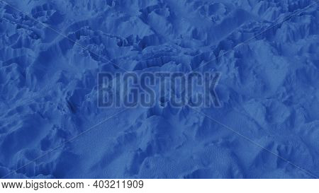 Abstract Minimalistic Background With Blue Noise Wave Field. Detailed Displaced Surface. Modern Back
