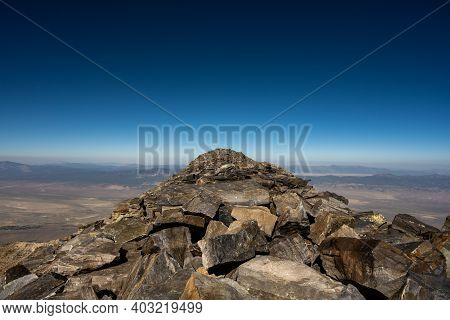 Deep Blue Sky Over Wheeler Peak In Great Basin National Park