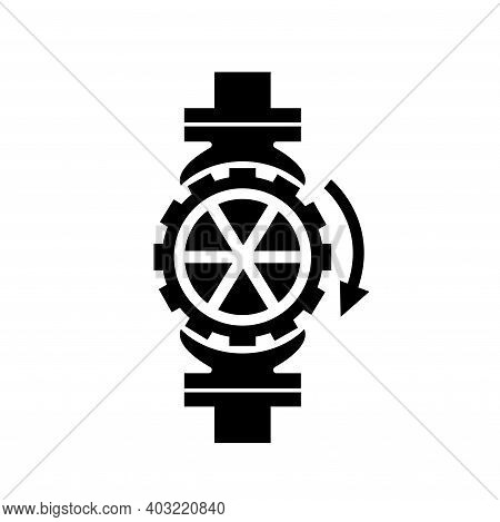 Sprinkler Stop Black Icon, Vector Illustration, Isolate On White Background Label. Eps10