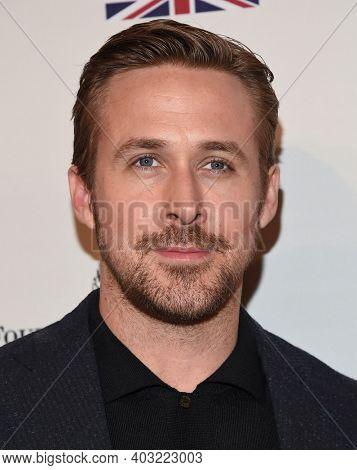 LOS ANGELES - JAN 7:  Ryan Gosling arrives for  BAFTA Los Angeles Tea Party 2017 on January 07, 2017 in Beverly Hills, CA
