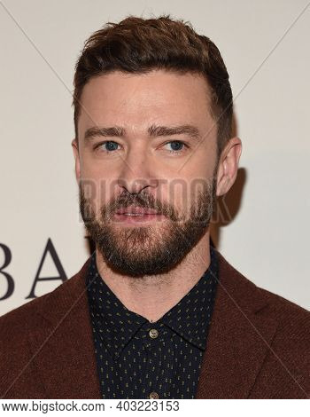 LOS ANGELES - JAN 7:  Justin Timberlake arrives for  BAFTA Los Angeles Tea Party 2017 on January 07, 2017 in Beverly Hills, CA