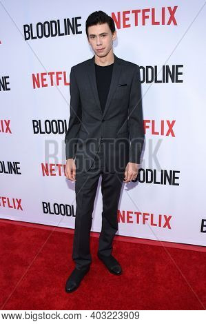 LOS ANGELES - MAY 24:  Owen Teague arrives for  the 'Bloodline' Season 3 Premiere on May 24, 2017 in Culver City, CA