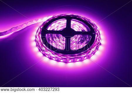 led strip purple light roll