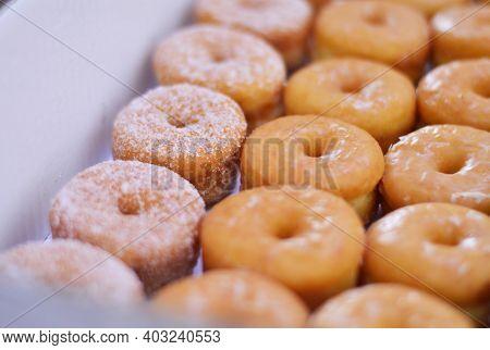 Mini Donuts In A Box Sugar Donuts