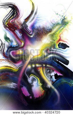 Multicolored Vivid Splash