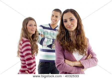 Smiling Group Of Teens