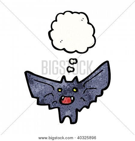cartoon halloween vampire bat poster