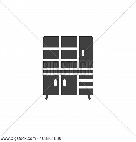 Closet Furniture Vector Icon. Filled Flat Sign For Mobile Concept And Web Design. Cupboard Wardrobe