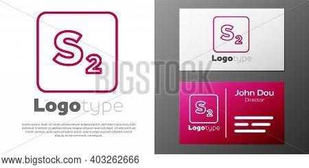 Logotype Line Bingo Icon Isolated On White Background. Lottery Tickets For American Bingo Game. Logo