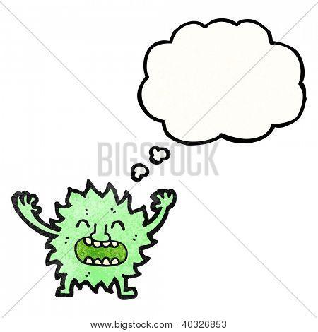 cartoon little gremlin