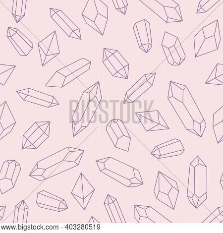 Crystal Repeat Pattern Design, Seamless Pastel Pattern, Repeat Background.