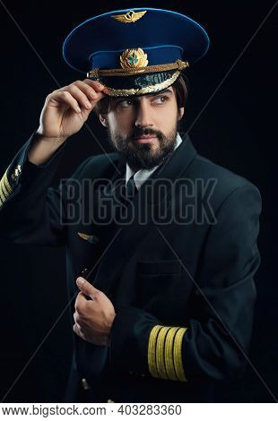 The Pilot Of The Plane Men With Beard