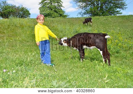 The Child And Calf