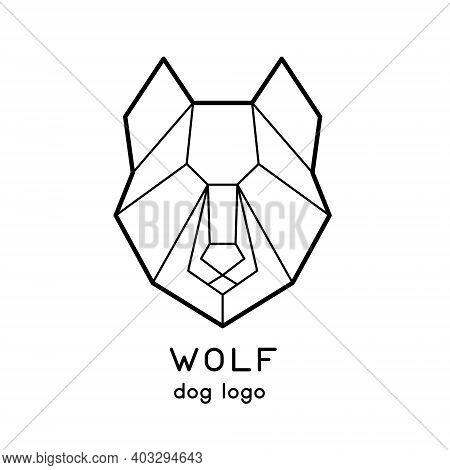 Polygonal Vector Wolf Or Dog Head Logo Design