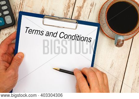 Conceptual Manuscript Showing Terms And Conditions. Clarify Your Ideas, Focus Your Efforts, And Use