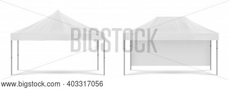 White Folding Promotion Tent, Outdoor Mobile Marquee For Party On Beach Or In Garden, Marketing Exhi