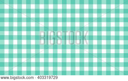 Light Green White Vintage Checkered Background. Space For Graphic Design. Checkered Texture. Classic