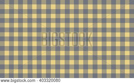 Gray Light Yellow Vintage Checkered Background. Space For Graphic Design. Checkered Texture. Classic