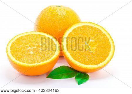 The Orange Fruit Isolated On White Background