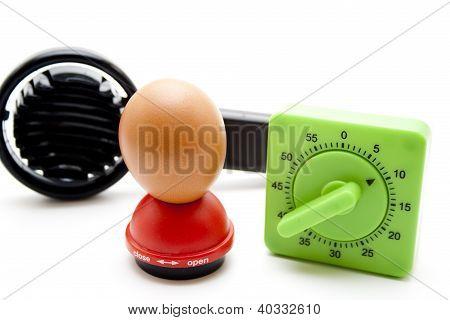 Egg with Egg slicer and Egg Piercer