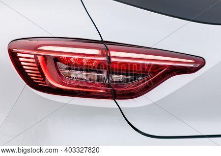 Backlight Of A White Car, Led Technology