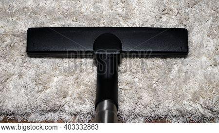 Vacuum The Shaggy Carpet, Vacuum On The Carpet, Suck In Dirt, Clean The Apartment.