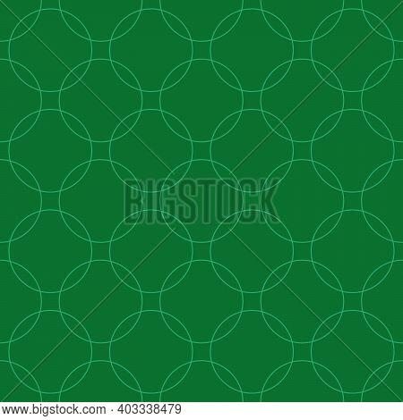 Seamless Abstract Intersecting And Repeating Modern Green Circles.