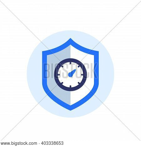 Security Meter Icon With Indicator And Shield