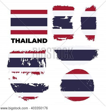 Thailand National Flag, Official Flag Of Thailand Accurate Colors, True Color