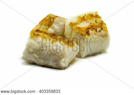 Fried Cod Fillet Isolated On White Background