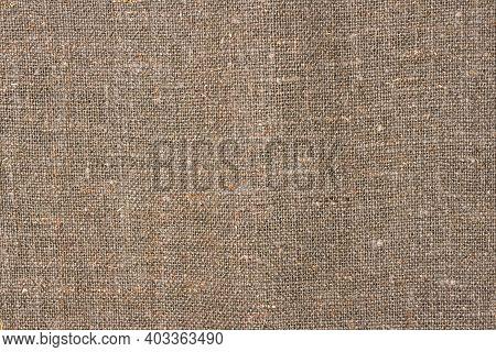 Natural Linen Burlap Fabric Texture. Linen. Flax. Background. Fabric Texture